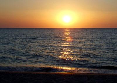 Ustka zachód słońca