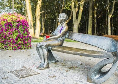 Ustka ławeczka Pani Ireny Kwiatkowskiej