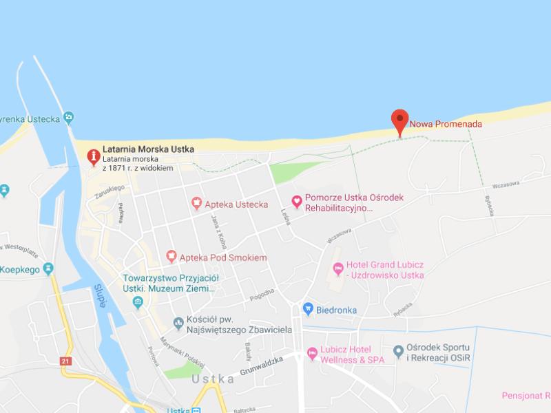 mapa nowa promenada