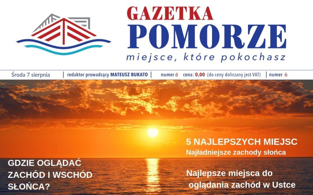 """""""Gazeta Pomorze"""" – Numer  6 – Najlepsze miejsca dooglądania zachód wUstce"""