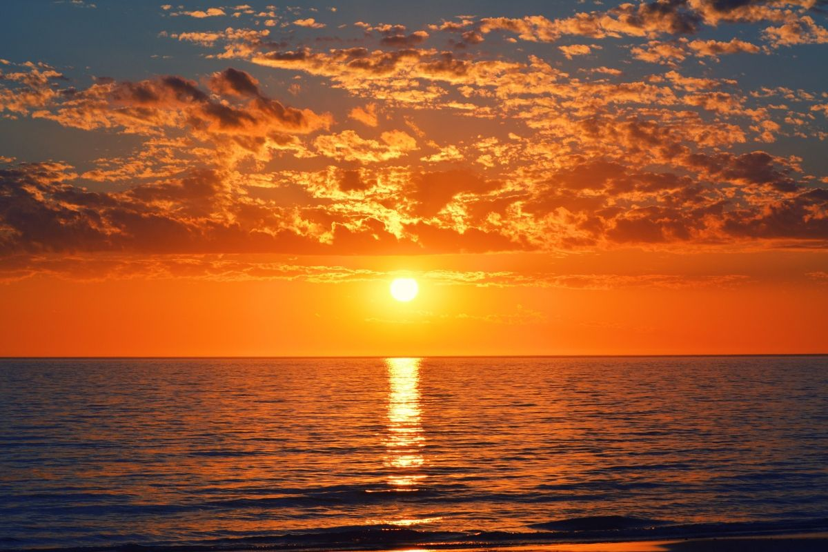 zachód słońca wustce