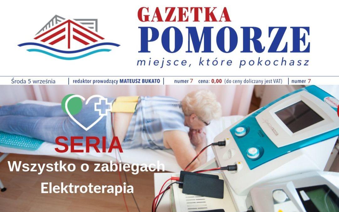 """""""Gazeta Pomorze"""" – Numer  7 – Wszystko ozabiegach – elektroterapia"""