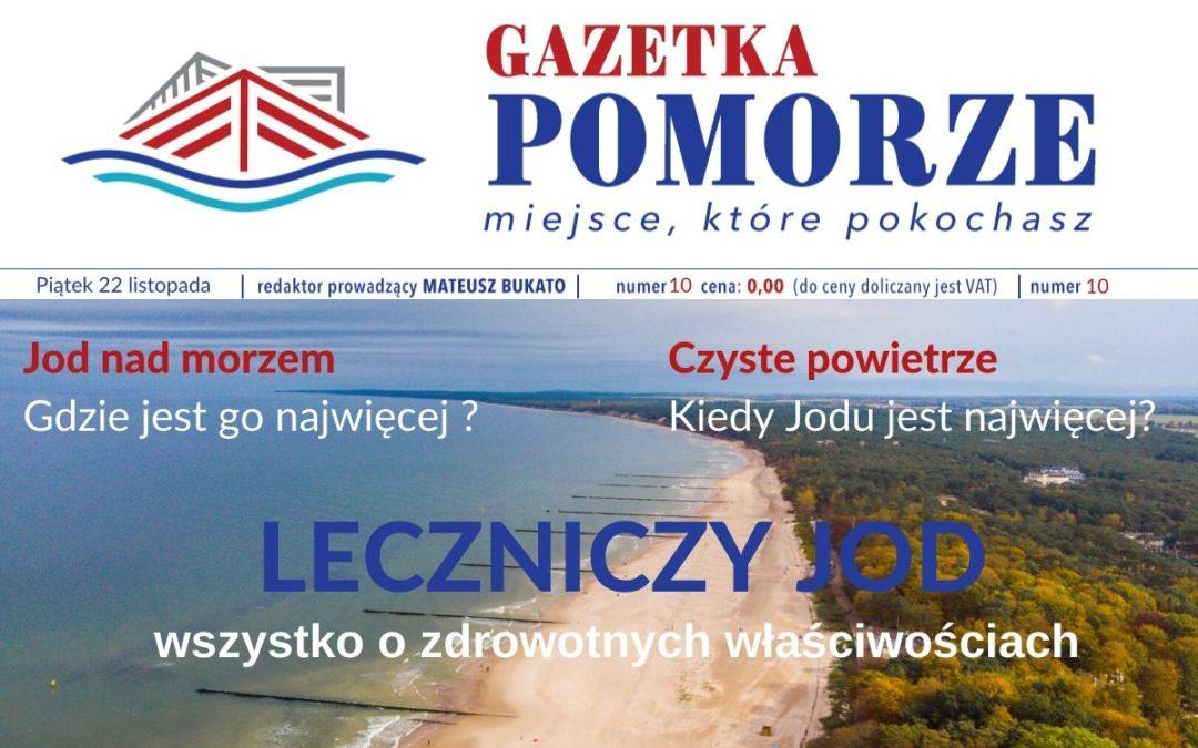 """""""Gazeta Pomorze"""" – Numer  10 – czyste powietrze – leczniczy jod"""