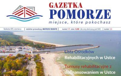 """""""Gazeta Pomorze"""" – Numer  13 – Turnusy rehabilitacyjne wUstce"""