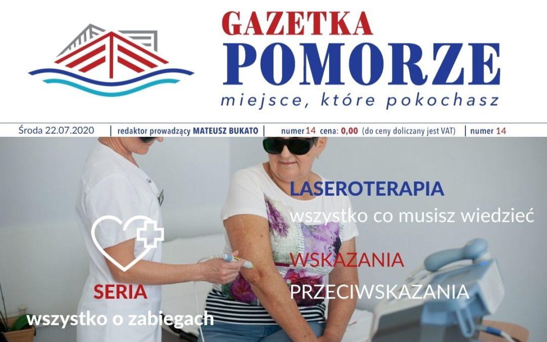 """""""Gazeta Pomorze"""" – Numer  14 – Laseroterapia"""