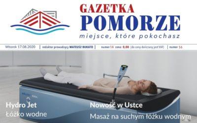 """""""Gazeta Pomorze"""" – Numer  16 – Suchy masaż wodny"""